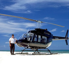 Just you, the pilot, a bottle of bubbles, cheese and biscuits on the Great Barrier Reef | Scenic Helicopter Sand Cay experience