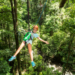 Kids Having Fun Ziplining - Daintree Cape Tribulation Ziplining Tour