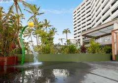 Kids Water Play Area - Rydges Esplanade Cairns is a popular family friendly accommodation option.