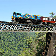 Kuranda Skyrail and Kuranda Scenic Railway tours in Cairns Queensland Australia