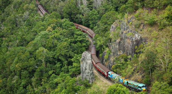Aerial View Kuranda Train & Scenic Rail