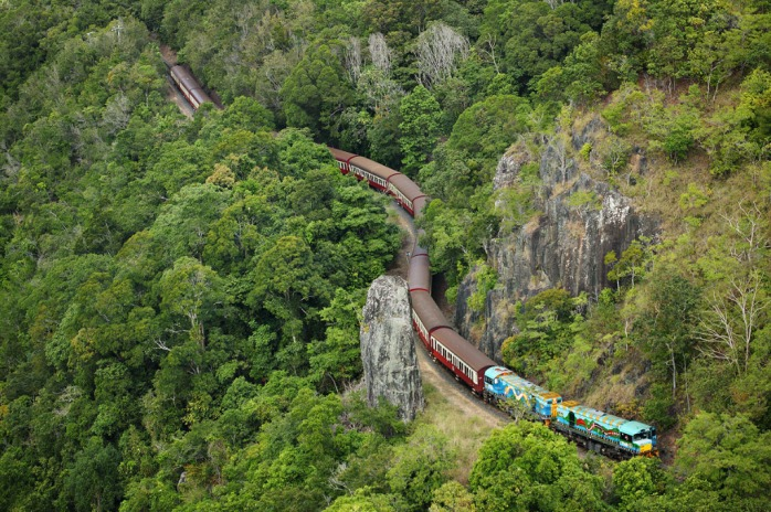 Kuranda Scenic Railway Climbing Up To Kuranda Village