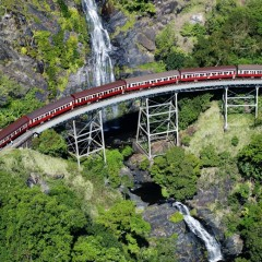Aerial View of Kuranda Train in Cairns