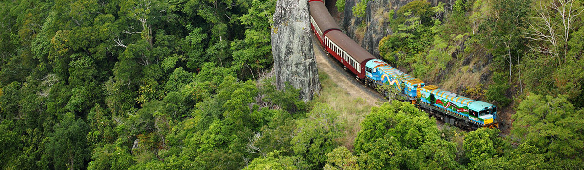 Kuranda Skyrail gondola tours & Kuranda Scenic Railway tours from Cairns Queensland Australia