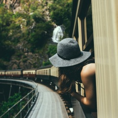 Kuranda Train Tours - Train Winding Around the Mountains