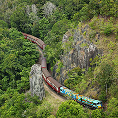 Kuranda Village With Skyrail and Kuranda Scenic Rail