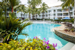 Lagoon Pool surrounded by lush tropical gardens - Peppers Beach Club & Spa Palm Cove Resort