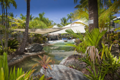 Lagoon Pool with Spa, Poolside BBQ at Marlin Cove Resort Trinity Beach
