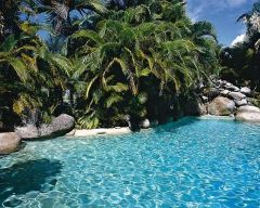 Lagoon Swimming Pool with Spa & Kids Pool - Beach Terrace Holiday Apartments Port Douglas