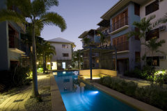 Lap Pool by evening - 1 of 3 Swimming Pools at Southern Cross Atrium Apartments