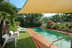 Lap Pool with shade - The York Beachfront Apartments