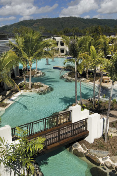 Large Lagoon Swimming Pool - Sea Temple Resort & Spa Port Douglas