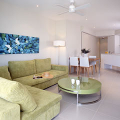 Spacious living areas at 201 Lake St Holiday Apartments Cairns
