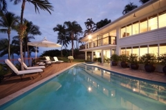 Large Outdoor Swimming Pool (Heated in Winter) complete with poolside Lounge & Alfresco Dining - Luxury Wharf St Holiday House Port Douglas