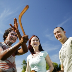 Learn how to throw a boomerang at Tjapukai Aboriginal Park in Cairns
