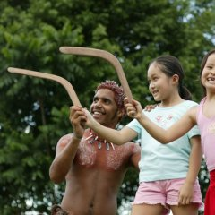 Learn to throw a boomerang on Aboriginal Cultural tour in Cairns