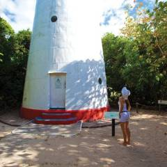 Lighthouse on Low Island | Explore the Island on the Half Day Low Isles Tour