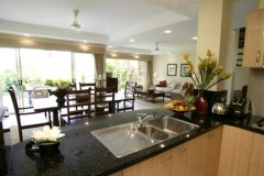 Open plan Kitchen in 2, 3 & 4 Bedroom Villas Port Douglas