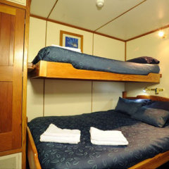 Liveaboard accommodation on Great Barrier Reef dive trip