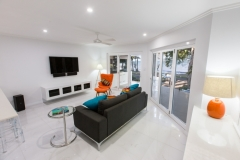 Palm Cove Apartments - Open plan living area - On The Beach Luxury Holiday Apartment Palm Cove