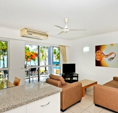 Living Area at Agincourt Beachfront Holiday Apartments