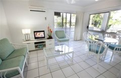 Living Area at Garrick House Holiday Apartments Port Douglas
