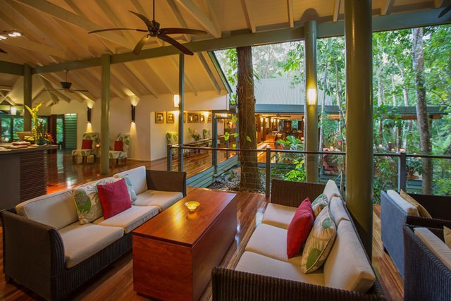 Guest Lounge - Silky Oaks Lodge Cape Tribulation Rainforest