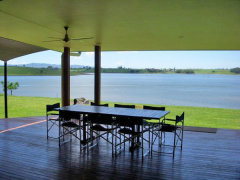 Looking out over Lake Tinaroo - The Edge Holiday House