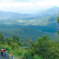 Lookout across the Atherton Tablelands Valleys
