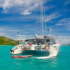 Lots of water toys are available on our Great Barrier Reef Yacht