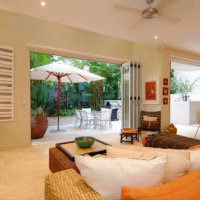 Luxury Port Douglas Holiday Apartment 10 - Open plan Lounge Area to enjoy the tropical lifestyle of Port Douglas