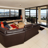 Lounge Room with views over Cairns Esplanade