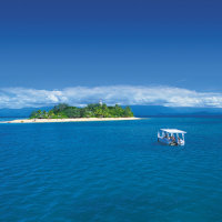 Low Island glass bottom boat tours from Port Douglas in Queensland Australia