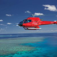 Low level flights from Cairns in a helicopter