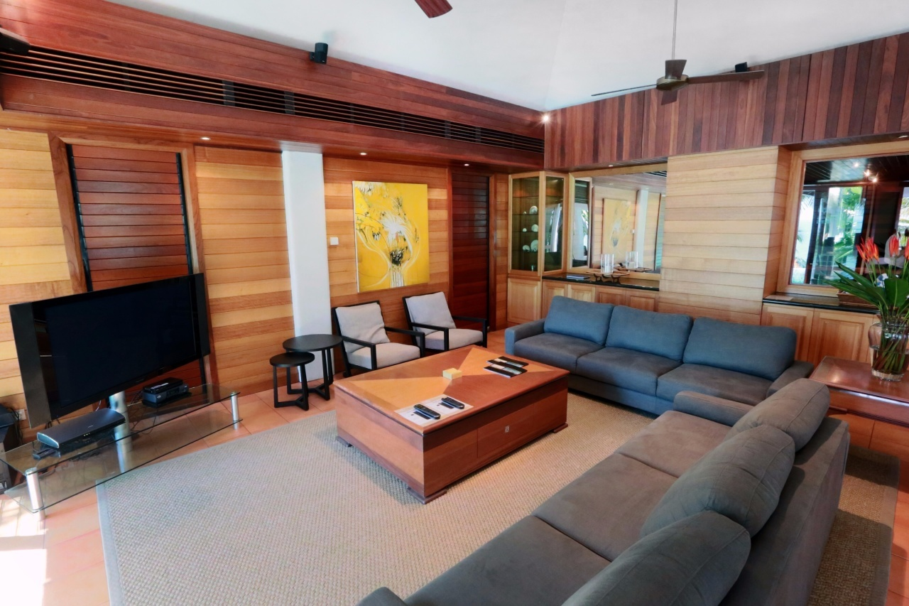 Enjoy Views Out Over Your Private Swimming Pool And To The Ocean From Your  Living Area Luxurious Lounge   Luxury Port Douglas Holiday Home