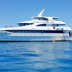 Luxury boat for diving and snorkeling on the Great Barrier Reef