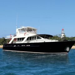 Luxury charter boat moored at Low Isles | Port Douglas | Great Barrier Reef Australia