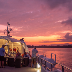 Luxury Cruise Ship Tours - Cairns Great Barrier Reef - Sunset Drinks