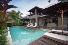 Enjoy a swim in your private 12.5m infinity Swimming Pool in your Luxury Port Douglas Holiday Home