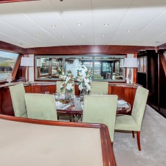 Saloon dining room on Cairns superyacht