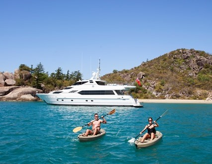 Private Charter Yacht at anchor Port Douglas | Kayaks available