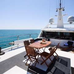 Luxury private charter yacht | sun deck | Port Douglas