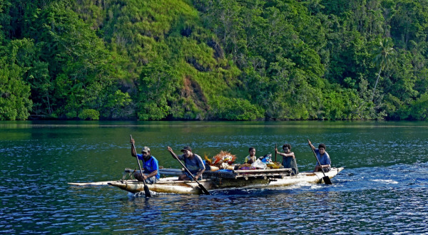 Madang Papua New Guinea To Cairns Cruise | Entering The Tufi Fjords With Your Local Outrigger Guide