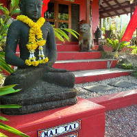 Balinese Style Entrance to Luxury Adult Only Resort Port Douglas