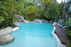 Mainl Lagoon Swimming Pool with Spa (Heated in winter) at Port Douglas Beach Terraces Holiday Apartments
