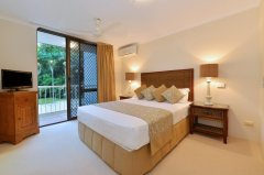 Master Bedroom with Queen Bed & Ensuite - - Cairns Beaches Accommodation