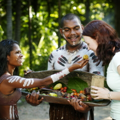 Meet with the Aboriginal people at Tjapukai Cultural Park in Cairns