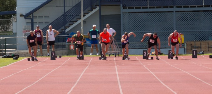 Mens Sprint Masters Games Cairns