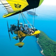 Microflights Over Barrier Reef and Rainforest In tropical North Queensland