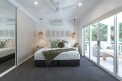 Modern Master Bedroom. 1 of 5 Bedrooms | Port Douglas Holiday Home